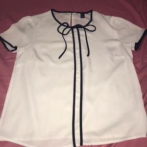 Forever21 tie neck blouse